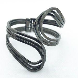 Jewelry - Pewter Hinged Cuff Bracelet